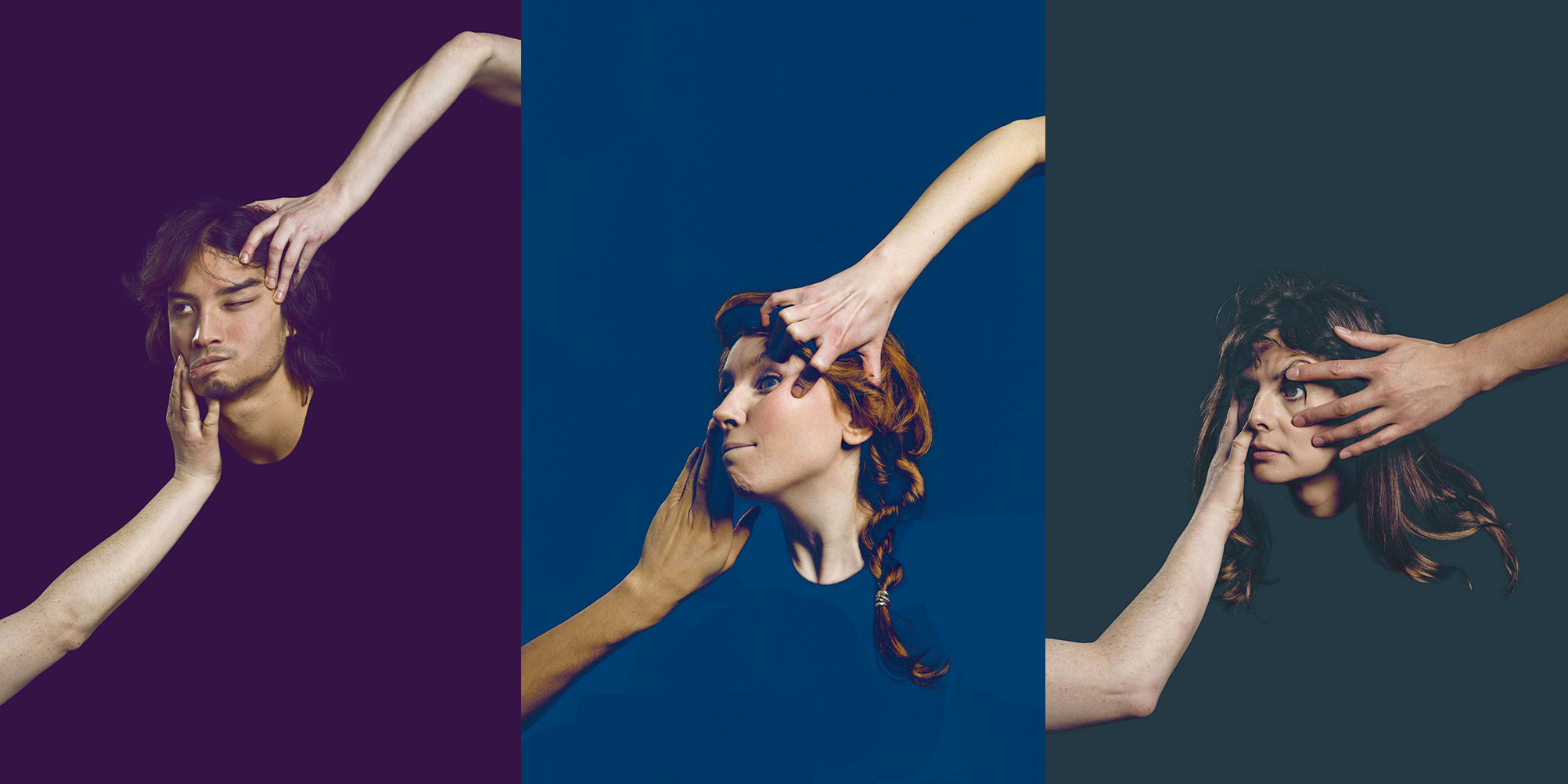 Poster images for the performance Trio. Photo: Lars Dyrendom